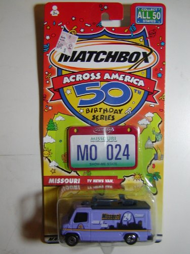 Matchbox Across America Missouri TV News Van - 1