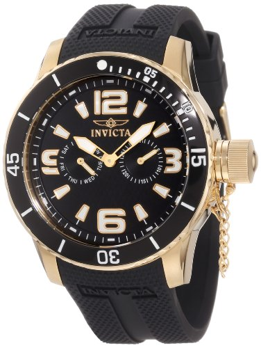 Invicta Men's 1792 Specialty Black Textured Dial Black Silicone Watch