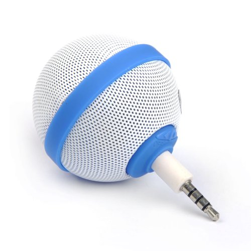E-Prance New Arrival Cute Ball Style Portable 3.5Mm Audio Mini Audio Speaker For Cell Phone Fm Radio Tablet Blue