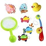 8 Piezas Set de juguetes de ba�o flotante con Juegos de pesca para los ni�os de 18 meses y hasta