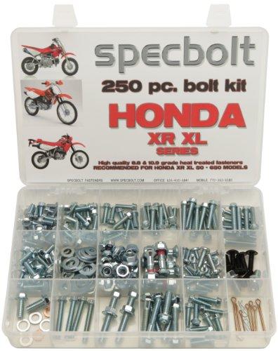 250pc Specbolt Honda XR XL four stroke Bolt Kit Maintenance & Restoration of Dirtbike OEM Fasteners XR50 XR80 XR100 XR185 XR200 XR250 XR400 XR500 XR600 XR650 and XR XL models 50 80 100 185 200 250 400 500 600 650 (Honda Xr250 Exhaust compare prices)