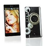 Kit Me Out UK Hard Clip-on Case for LG Optimus L9 P760 - Vintage Camera