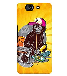 PrintVisa Cool Boy 3D Hard Polycarbonate Designer Back Case Cover for Micromax Knight A350