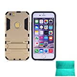 iPhone 6S Plus,iPhone 6 Plus Case,Moment Dextrad [Non-Slip][Shockproof]][Stand Feature]Dual Layer Armor Defender Shock Absorption Cover for iPhone 6/6S Plus 5.5 inch (Gold)