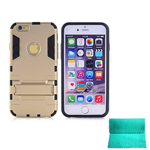 iPhone 6 Case,Moment Dextrad [Non-Slip][Shockproof]][Stand Feature]Dual Layer Armor Defender Shock Absorption Best protective for iPhone 6 (Champagne Gold, iPhone 6 4.7 inch)