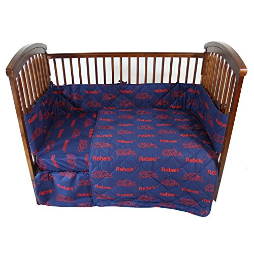 College Covers Mississippi Rebels 5 Piece Baby Crib Set
