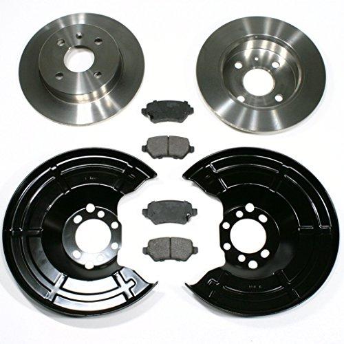 Opel Meriva - Bremsscheiben 4-Loch / Bremsen + Bremsklötze + Spritzbleche für hinten / für die Hinterachse