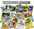 50 Pokemon Diamond Pearl Trading Cards Lot