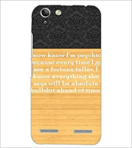 PrintDhaba Quote D-3297 Back Case Cover for LENOVO A6020a46 (Multi-Coloured)