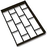 tec-Betonform-Pflasterstein-Ziegeloptik-2-Generation-Schalungsform-Gieform-Polypropylen-Kunststoff-Pflaster-Stein-Gehweg-Mae-ca-40x60x6cm