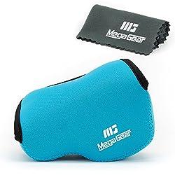 MegaGear Ultra Light Neoprene Camera Case Bag for Sony NEX-5TL, Sony NEX-5R, Sony NEX-3N with Sony SELP1650, Sony A5100,a Sony A5000 16-50mm Lens (Blue)