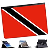 Trinidad And Tobago Flag For Apple iPad Air Faux Leather Folio Presenter Case Cover Bag with Stand Capability