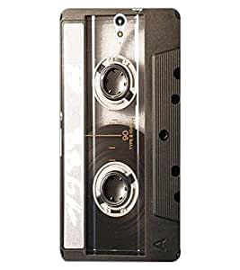ColourCraft Retro Audio Cassette Design Back Case Cover for SONY XPERIA C5 ULTRA