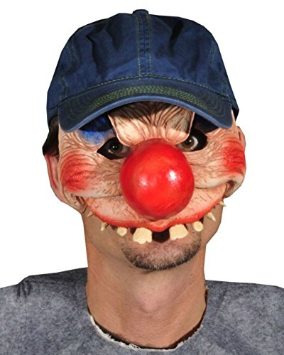 Clowning Around Scary Horror Latex Adult Halloween Costume Mask