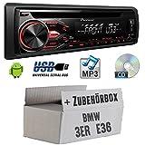 BMW-3er-E36-Pioneer-DEH-1800UB-CDMP3USB-Autoradio-Einbauset