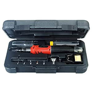hs 1115k 10 in 1 gas soldering iron cordless welding torch tool kit. Black Bedroom Furniture Sets. Home Design Ideas