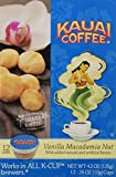 Kauai Coffee Vanilla Macadamia Nut Single-Serve Cups, 12 Count