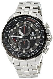 Casio Men's Edifice Tachymeter Chronograph Dial Watch Black