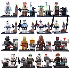 amzingsir Super Heroes Minifigures Mixed - (Set of 9 with Different Minifigures) OneSize, Multicoloured by Shiv