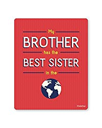 PosterGuy Raksha Bandhan / Rakhi Gift Best Sister in the World Red Mousepad