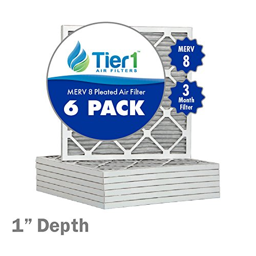 16-1/2x21-1/2x1 Dust & Pollen Merv 8 Pleated Replacement AC Furnace Air Filter (6 Pack) (16 1 2 X 21 1 2 X 1 Air Filter compare prices)