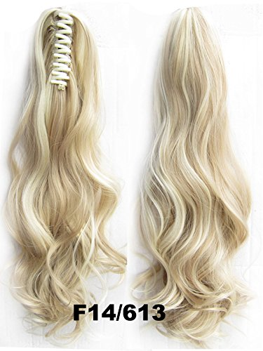 "A.H Natural 22"" Ponytail Hair Design Claw Clip Hair Extension Hairpiece #F14/613"