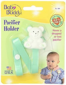Baby Buddy Bear Pacifier Holder, MINT [Baby Product]