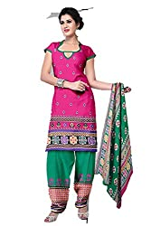 Riddhi Dresses Women's Cotton Unstitched Dress Material (Riddhi Dresses 103_Multi Coloured_Free Size)