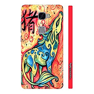 Huawei Mate S CHINESE ZODIAC PIG designer mobile hard shell case by Enthopia