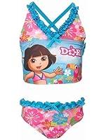 Dora Girls 2-Piece Criss Cross Tankini Swimsuit - UPF 50+
