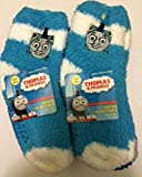 Childrens Boys/Girls 6-Pack Softee Fuzzy Socks Licensed by Disney, Sesame Street, Nickelodeon & more characters (2T-4T, Thomas 15)