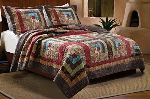 Greenland Home 3-Piece Colorado Cabin Quilt Set, Full/Queen