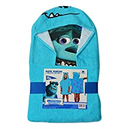 Kids Hooded Towel/Poncho: Disney, Monsters University\'s Sulley
