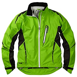 Madison mens Stellar Long Sleeve Waterproof Jacket Green Flash Large by Madison