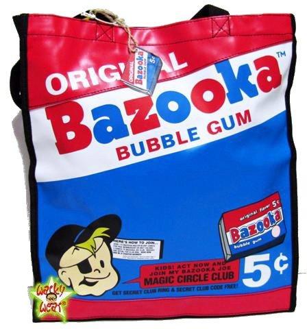 bazooka-joe-bubble-gum-retro-shopper-schulter-tasche-tas-50s-anzeige-a4-cool-neu