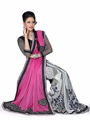 Yashoda Textile Multi Color Georgette Printed And Border Work Sarees With Un-Stitched Blouse Piece (Y.S_681_Multi)