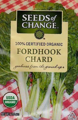Seeds of Change Organic Fordhook Chard Seeds - 2.8 grams