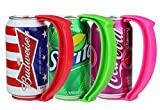 Instant Beer Soda Juice Can Handle Griper - 3pk - Red/Green/Blue