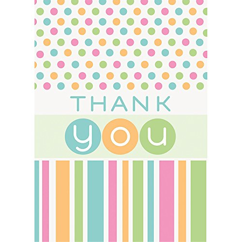 Pastel Baby Shower Thank You Cards, 8ct - 1
