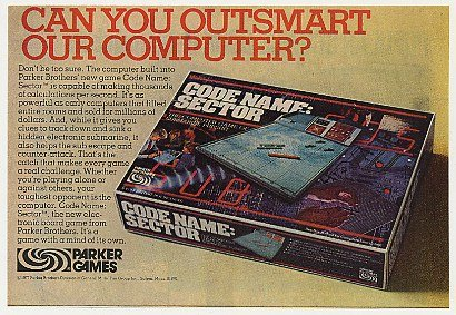1977 Parker Code Name Sector Computer Game Print Ad