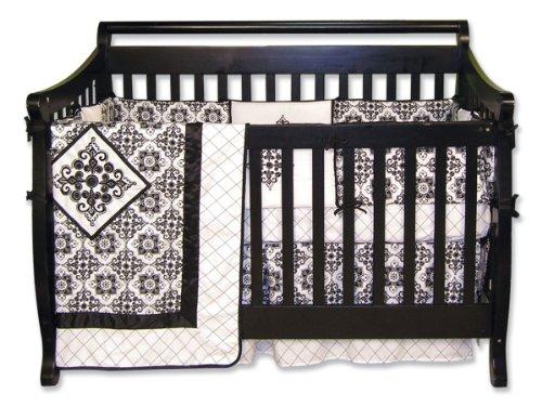 Trend Lab Versailles Black and White 4 Piece Crib Set - 1