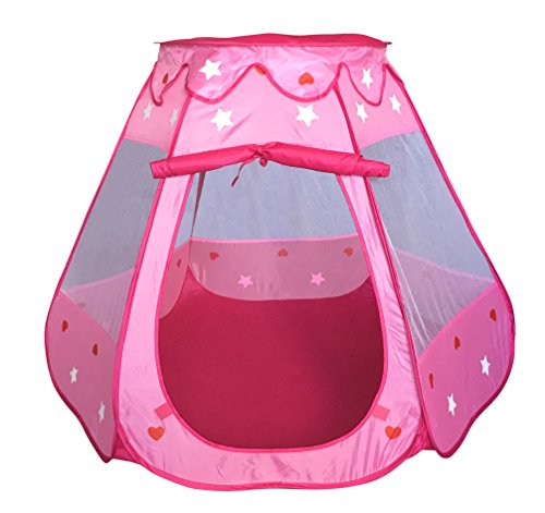 Great Deal! SueSport Girls Pink Princess Play Tent Indoor and Outdoor, Children Play Tent for Girls
