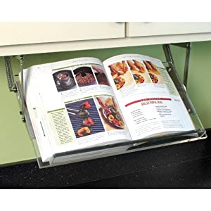 Amazon.com: Cabinet Mounted Acrylic Cookbook Holder: Cookbook Stands ...