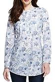 Pure Cotton Floral Shirt [T41-6505W-S]