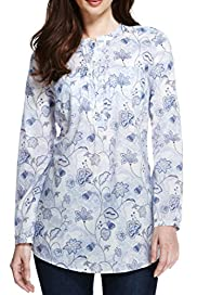 Pure Cotton Floral Shirt [T41-6505W-S]