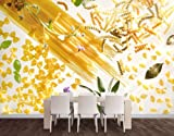 WTD Fleece Wall Mural No.318 Pasta! Pasta! Wallpaper, Fleece Mural, Kitchen, Italy, Noodles, Spice, Lavender, Sage, Basil - Size: M - 120x80cm - 1 part