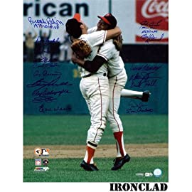 1970 World Series Champion Team Signed 16x20 Last Out Celebration Photo