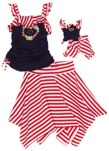 Dollie & Me Girls 7-16 Shirred Tank With Hankerchief Skirt