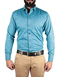 McHenry turquoise checkered shirt