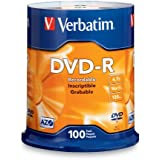 Verbatim 4.7 GB up to 16x Branded Recordable Disc DVD-R 100-Disc FFP 97460
